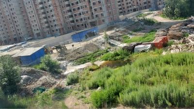 水韵蓝天建筑垃圾严重影响附近居民