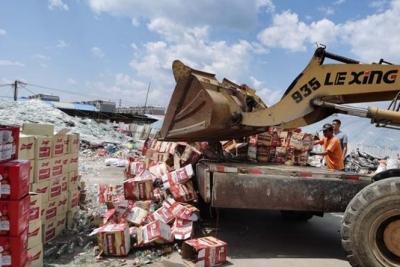 延吉集中销毁236箱问题啤酒