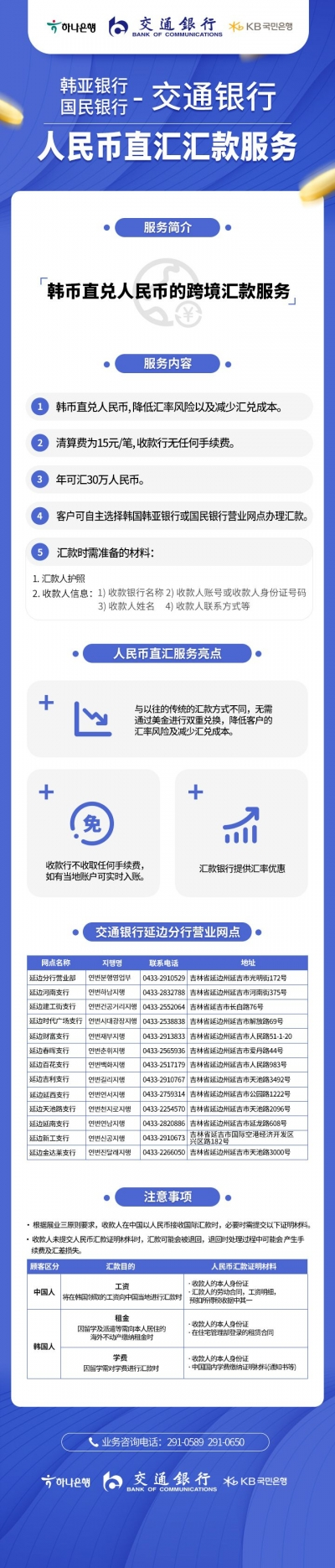 韩币直兑人民币的跨境汇款服务