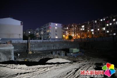 高考前夜 延吉建筑工地静悄悄