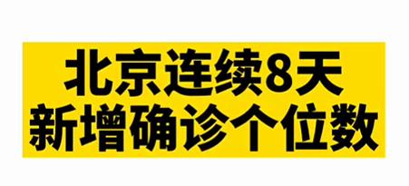 【微视频】北京新增1例确诊在丰台!目前连续8天新增确诊个位数!