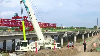 敦化敖东大桥危桥改造工程完成箱梁架设