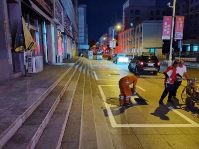 延吉市城管局升级改造四个停车场