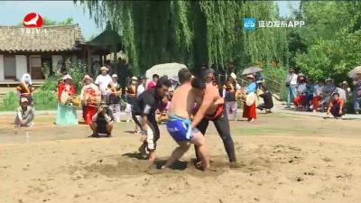 """""""9.3爱心""""杯延边朝鲜族摔跤比赛在图们举行"""