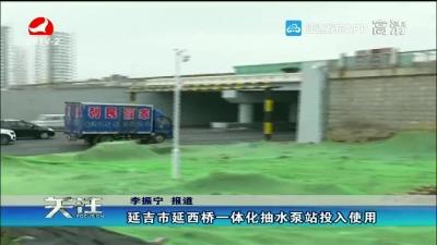 延吉市延西桥一体化水泵站投入使用