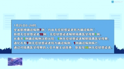【视频新闻】吉林省卫健委关于新冠肺炎疫情情况通报