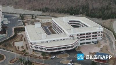 外形像船的珲春中医医院有望6月投入使用