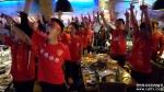 연변축구팬들의 응원한마당(포토)