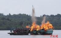 인도네시아 불법조업 선박 28척 폭파