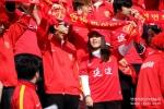응원하는 연변축구팬들