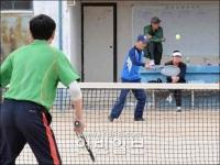 """""""룡우기업""""컵 테니스경기 펼쳐"""