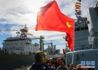 중국 해군편대 남아프리카 방문 시작