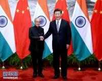 습근평주석, 인도 대통령과 정상회담