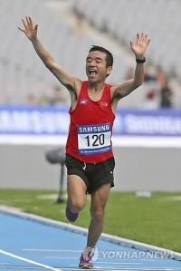 일본 개그맨 마라토너, 캄보쟈대표로 올림픽 출전