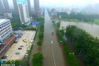 하남성 신향시 특대 폭우, 교통정체 및 교통사고 다발