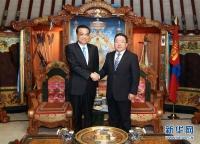 리극강 총리, 몽골국 대통령 회견