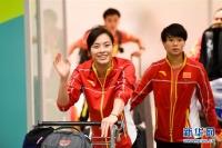 중국체육대표단, 리오데쟈네이에 도착