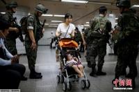 서울지하철에서 반테러 훈련 진행