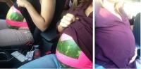 임신부 행세로 영화관에서 수박 간식 즐긴 소녀들