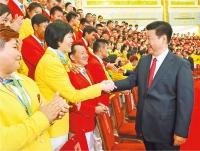 습근평, 제31회 올림픽 중국선수단 회견