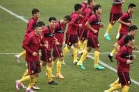 (사진)중국국가팀 서울에 도착한후 첫 공식훈련 진행
