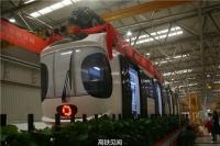 중국 첫 공중철도 열차 정식 출고