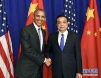 리극강 총리, 오바마 미국 대통령 회견