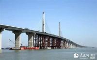 향항-주해-오문 련결 55㎞ 세계최장 해상교량 래년 완공