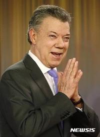 꼴롬비아대통령 산토스, 노벨상상금 내전 희생자에 기부