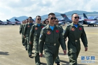 """중국공군 """"8.1""""비행공연팀 주해에 도착"""