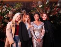 '새댁' 나르샤, 드레스 자태 뽐내며 브아걸 멤버들과 단체샷