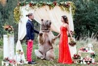 """""""주례는 곰선생님께서…"""" 세계서 가장 독특한 결혼식"""