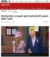 부모님 반대로 헤여졌다 '65년'만에 결혼한 로부부
