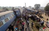 인도 북부 렬차탈선 사고로 최소 116명 사망