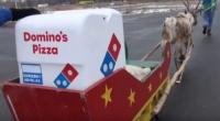 일본 도미노피자, 순록 피자배달 시험중
