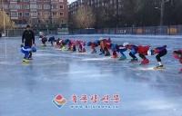 목단강시조선족소학교 겨울철 스케트 운동 정식 시작