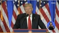 """트럼프,기자회견 """"메히꼬 국경에 장벽 설치하겠다"""""""