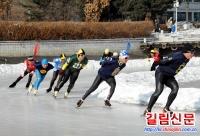 훈춘시빙설활동 및 전주속도스케트초쳥경기 개최