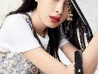 길림 인기 스타 손이, 무심한 듯 시크한 패션 '우아미' 뽐내