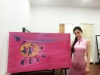 안젤라 베이비 그림, 中 자선경매서 18만원 낙찰
