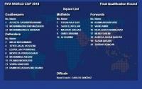이란국가팀 선수명단과 등번호 발표
