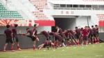 [포토]19라운드경기를 앞두고 잔디적응훈련중인 연변부덕팀,천진권건팀