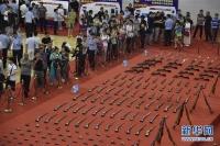 전국 202개 시, 현… 압수한 불법총기, 폭발물 통일적으로 소각
