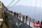 중국 사천 만원: 중국 최고 해발 '유리 현수교' 정식 개방