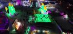 [드론촬영]  환상적인 빛의 향연-연길국제빙설관광축제