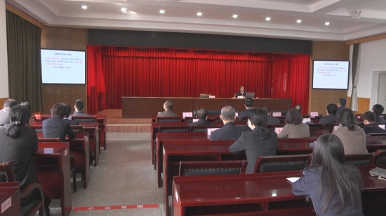 [영상뉴스]당사학습교육 주당위 선전강연단 도문서 선전강연