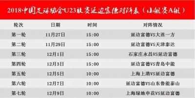 动态|延边富德组队参加中国足球协会U23联赛,27日首轮将对阵大连一方